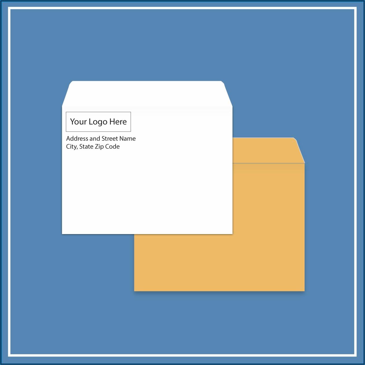 6 X 9 Booklet Window Envelope Template