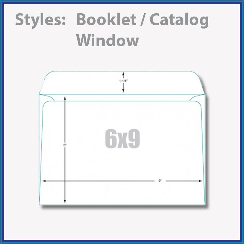 9 X 12 Booklet Window Envelope Template