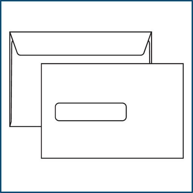9x12 Window Envelope Template
