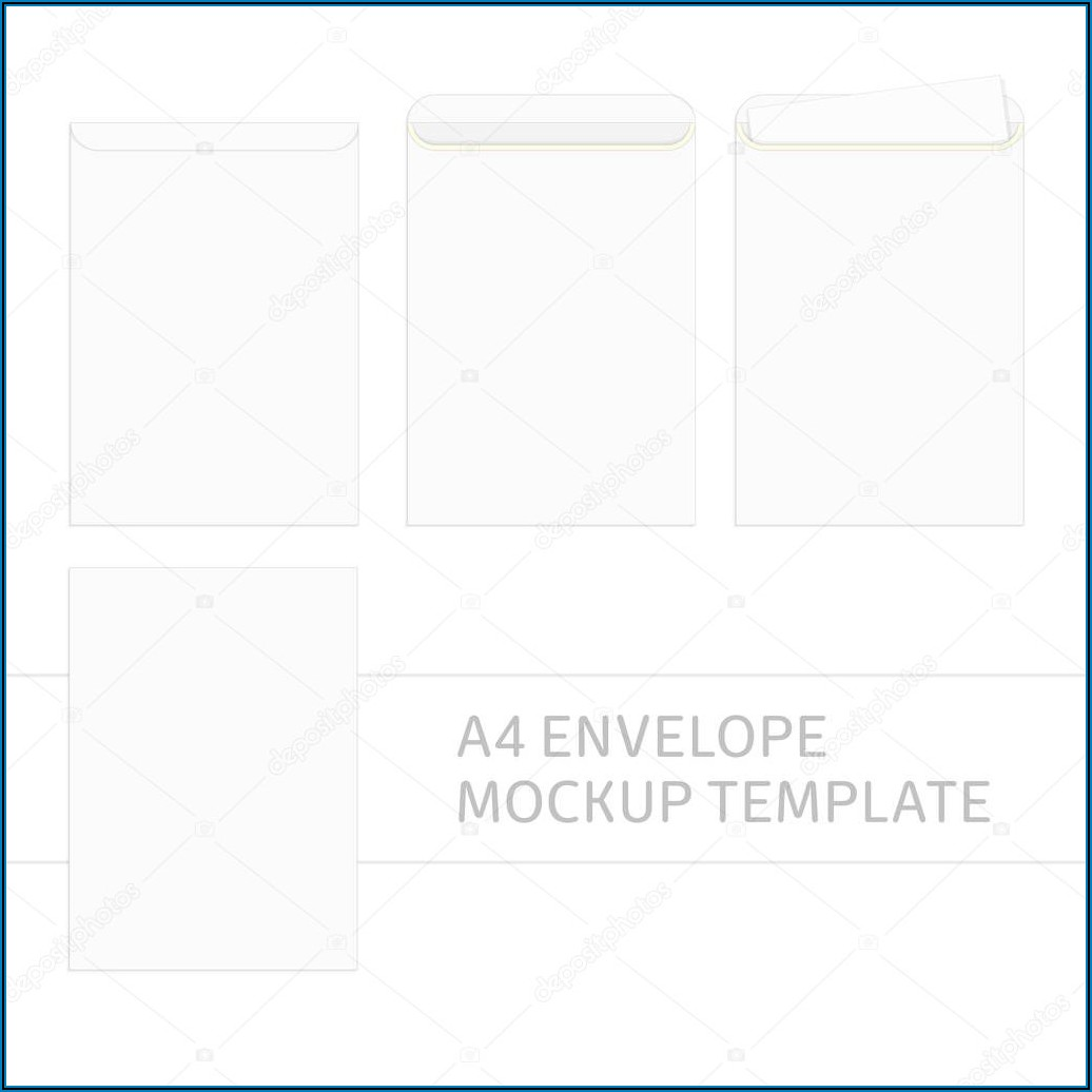 A4 Envelope Template Illustrator