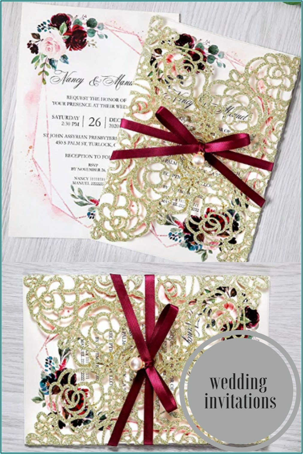 A5 Wedding Invite Belly Bands