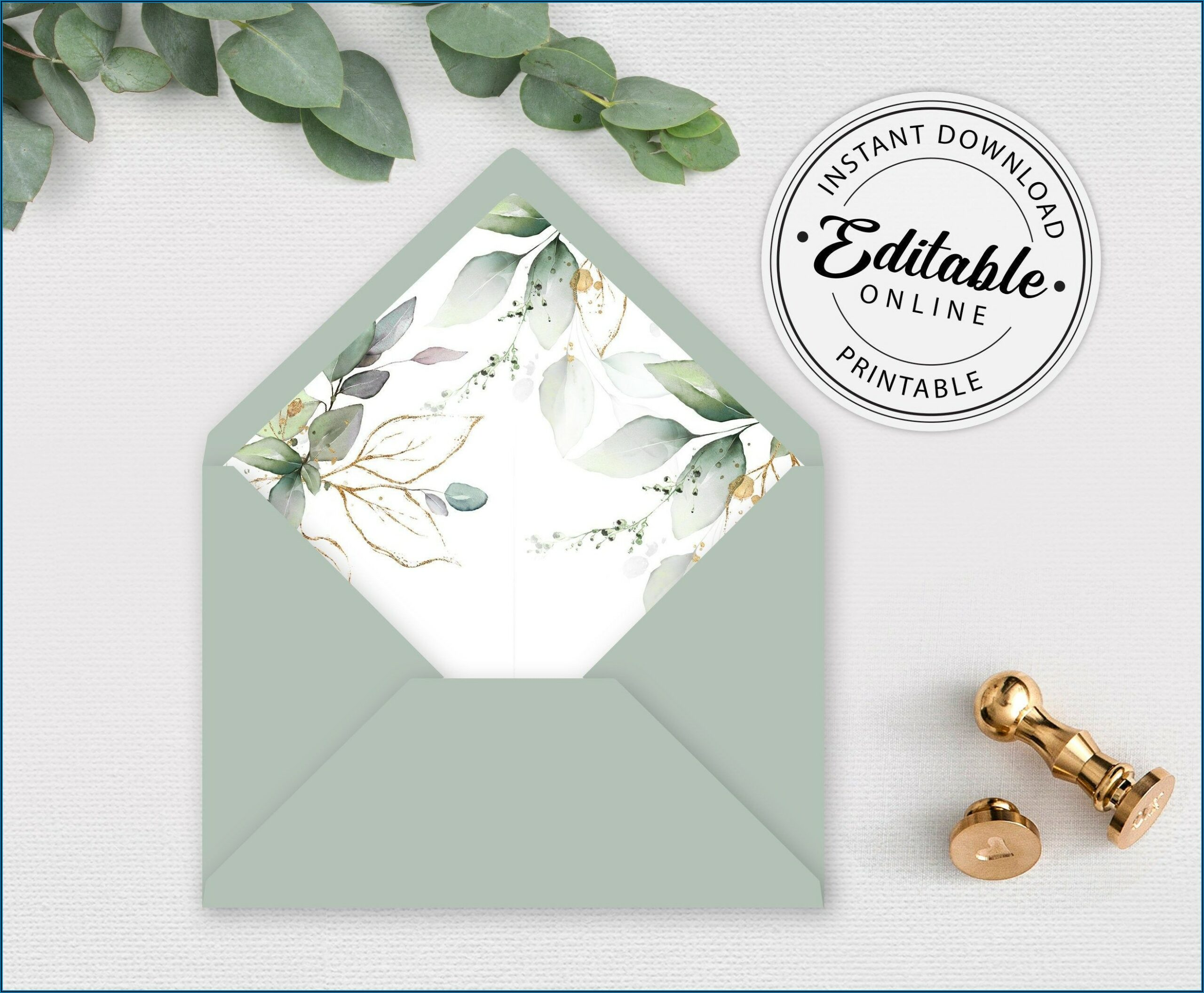 A7 Euro Flap Envelope Liner Template