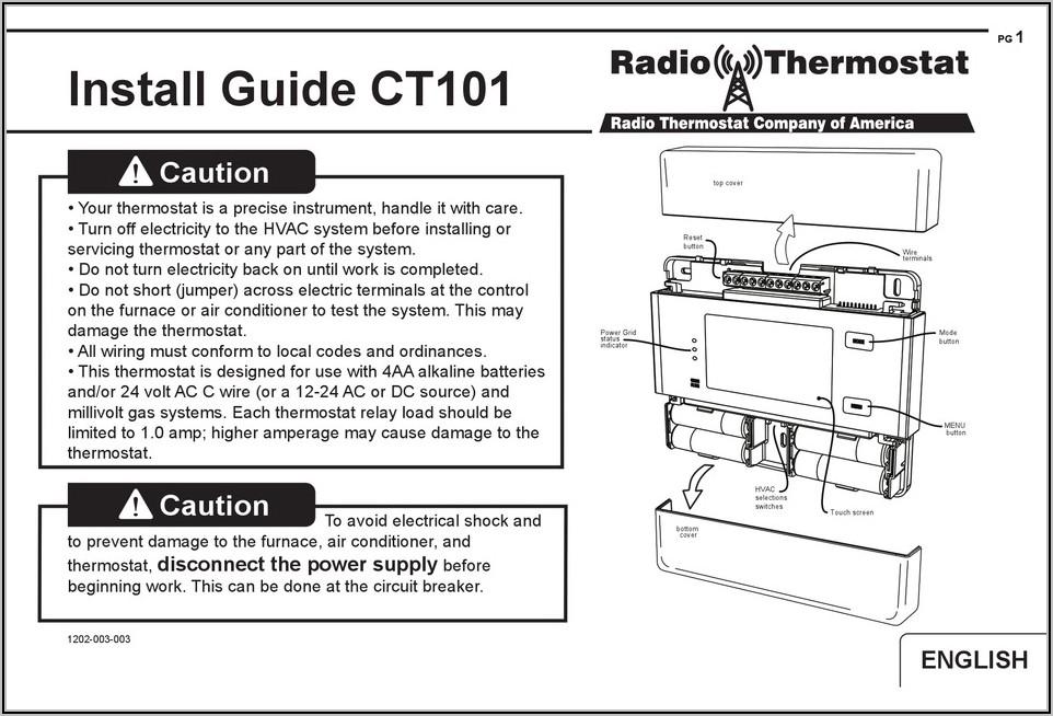 Air Conditioner Thermostat Wiring Diagram Pdf