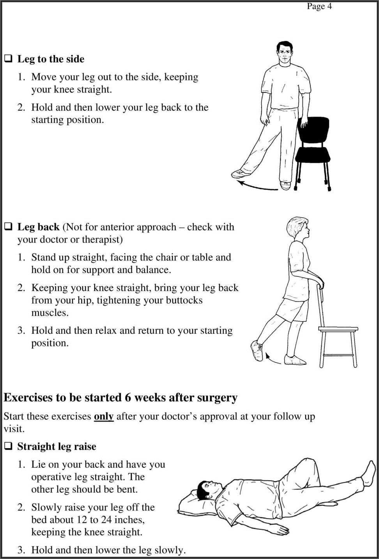 Anterior Hip Replacement Rehab Exercises