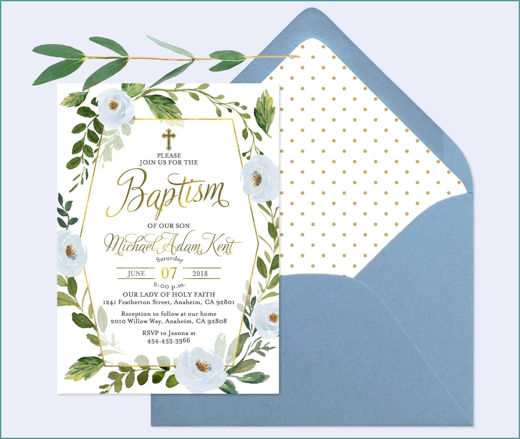 Baby Boy Baptism Invitation Ideas