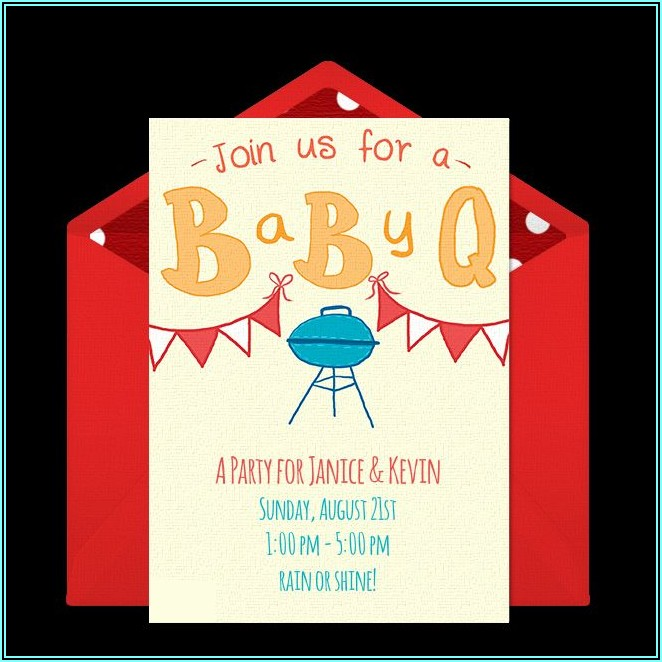 Baby Q Shower Invitations Free