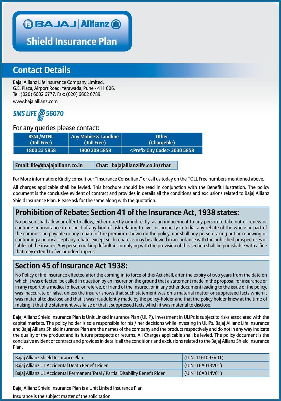 Bajaj Allianz Health Insurance Brochure Pdf