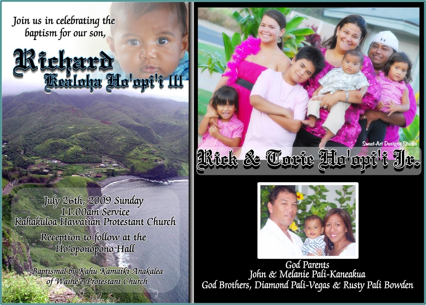 Baptism Invitation Boy Ideas