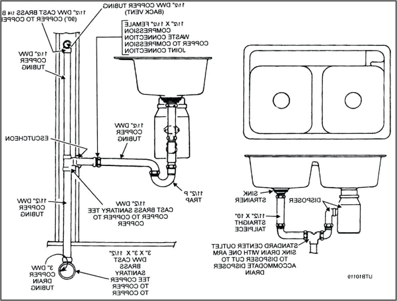 Bathtub Drain Assembly Diagram