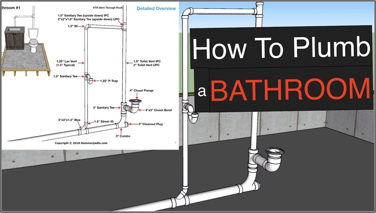 Bathtub Drain Line Diagram