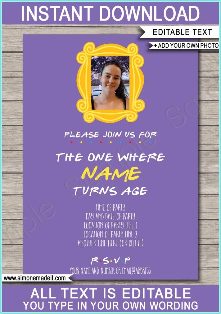 Birthday Invitation Card For Friends