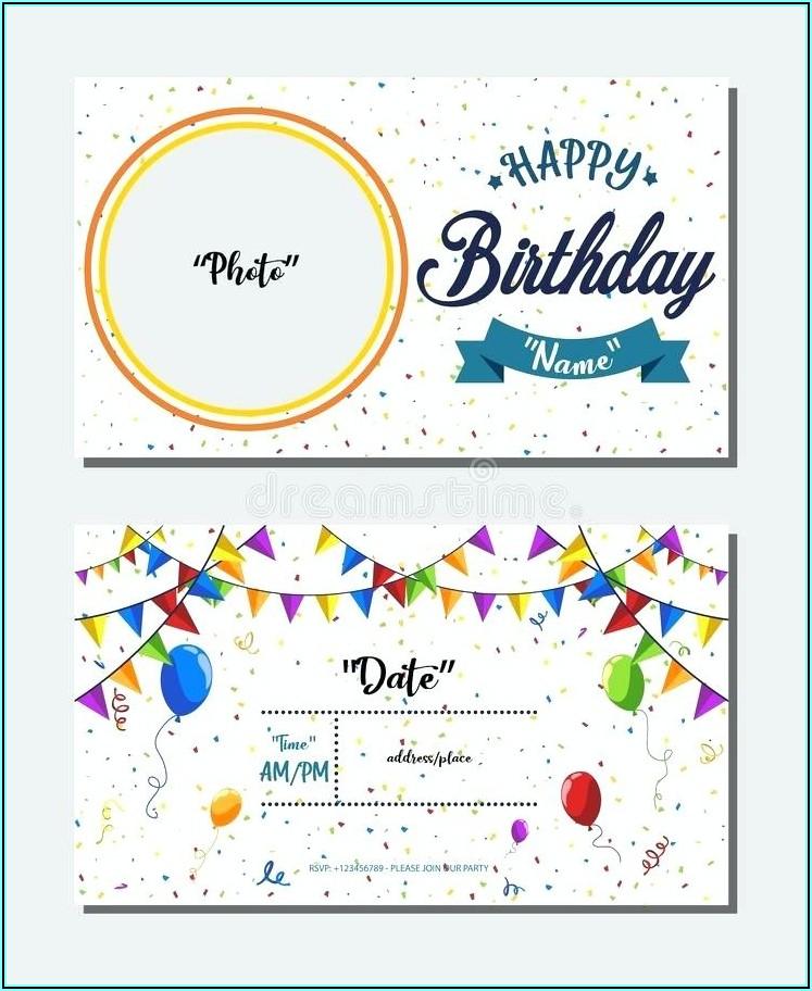 Birthday Invitation Card Sample