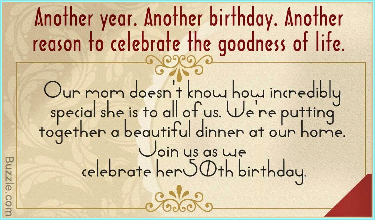 Birthday Invitation For Adults Wording