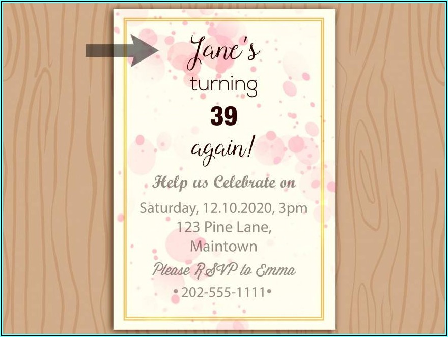 Birthday Invitation Text For Adults