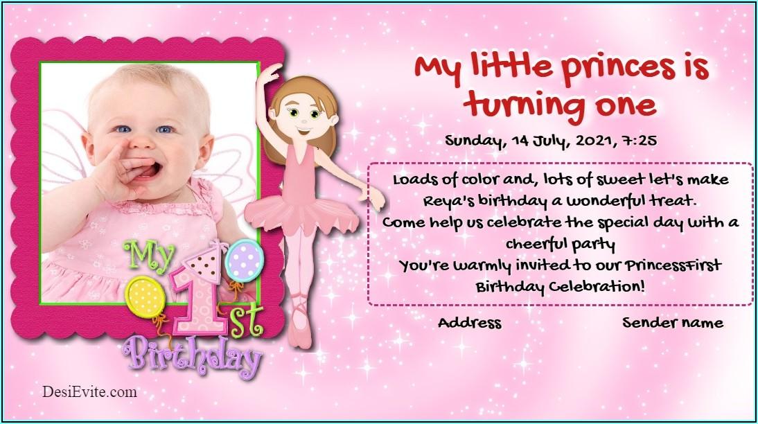 Birthday Invitation Text For Girl