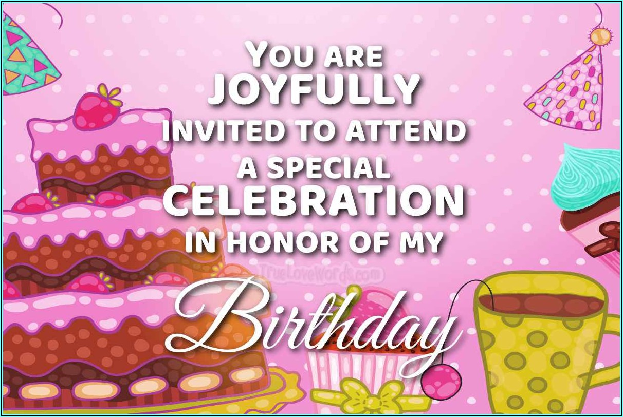 Birthday Invitation Text Message For Friends