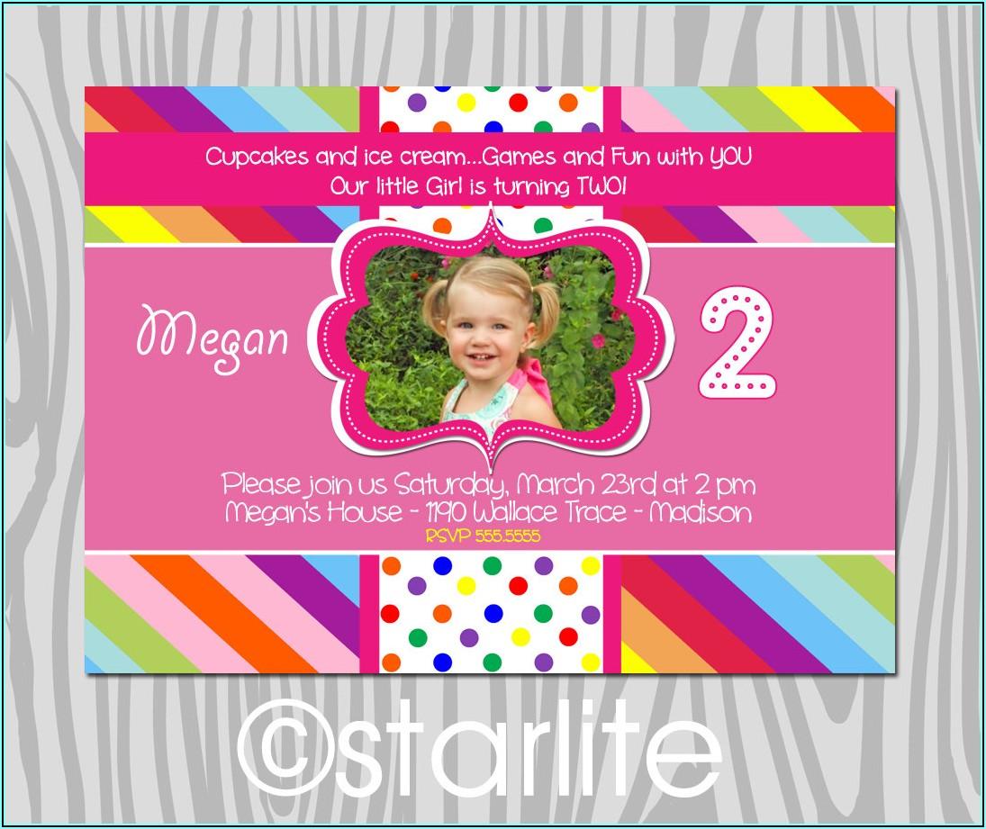 Birthday Invitation Wording For Girl