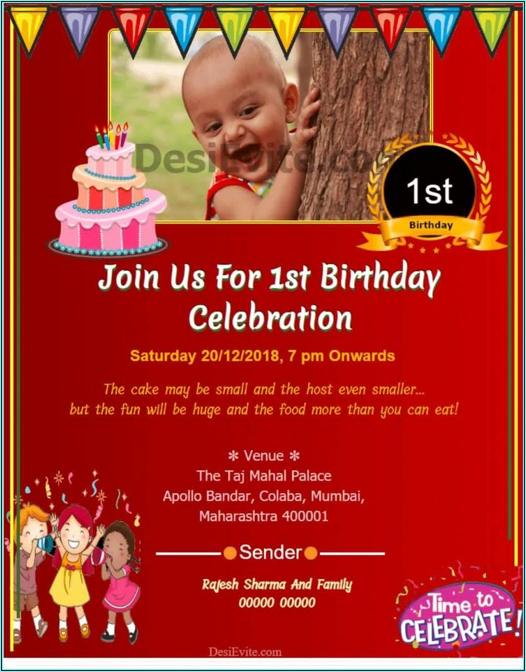Birthday Invitation Wording Samples
