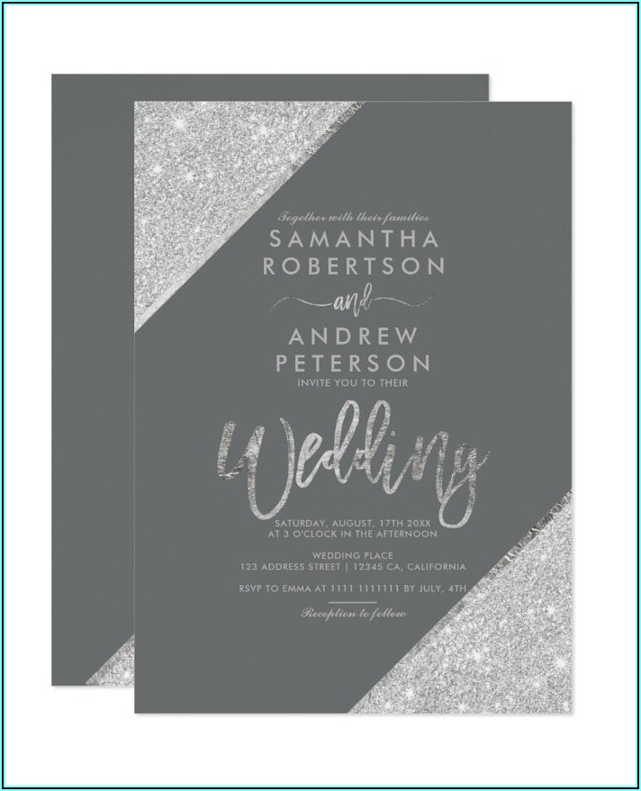 Black White And Rose Gold Invitations