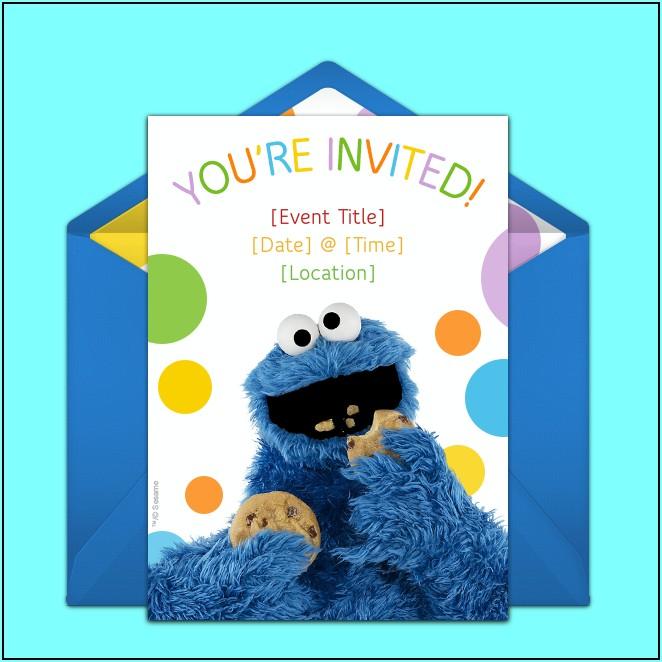 Blank Cookie Monster Invitations