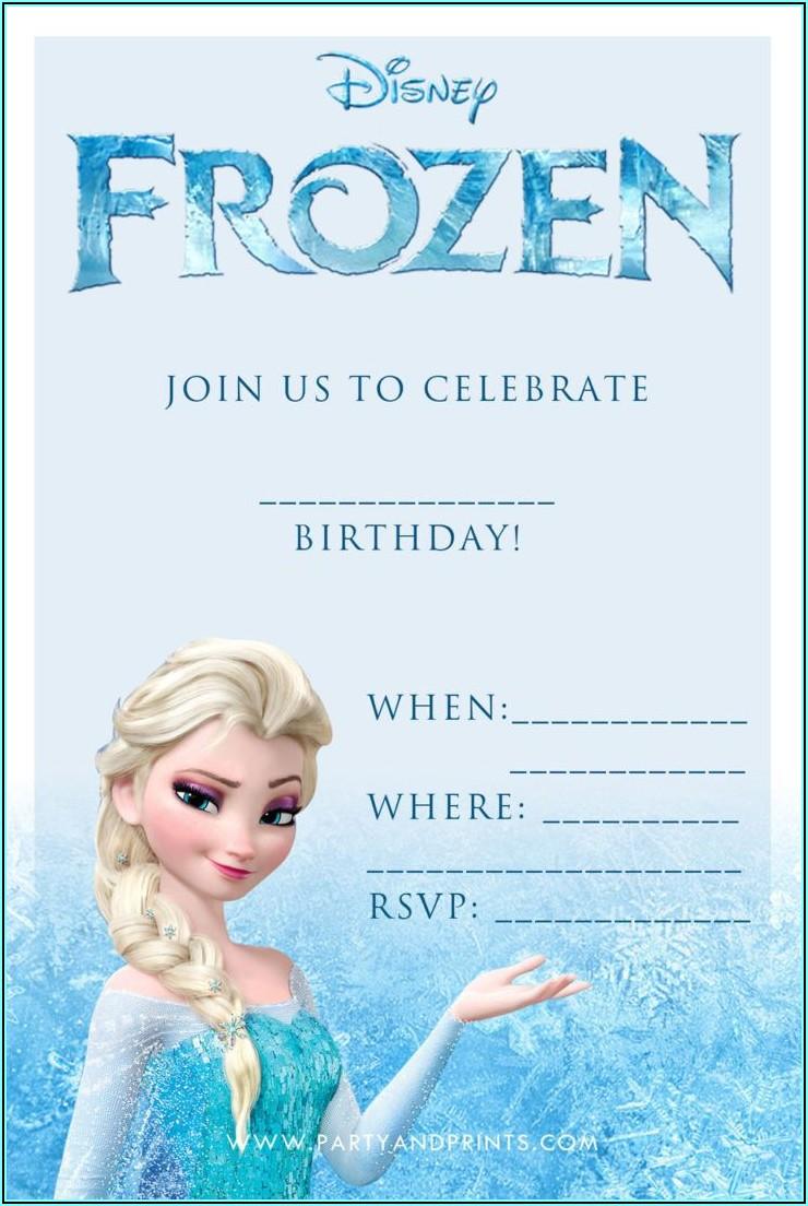 Blank Frozen Birthday Invitations