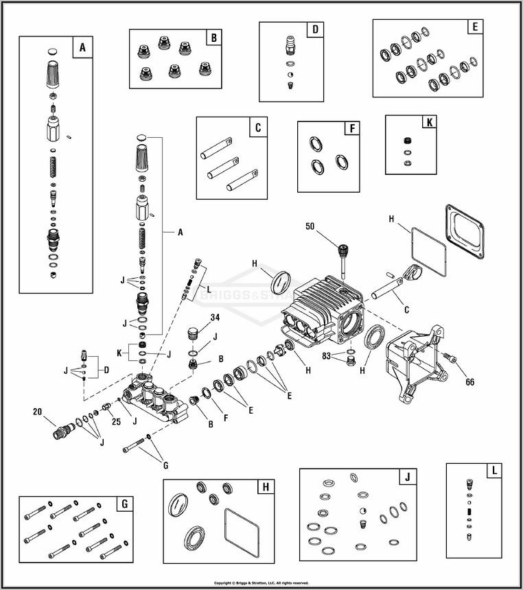 Briggs And Stratton Pressure Washer Unloader Valve Diagram