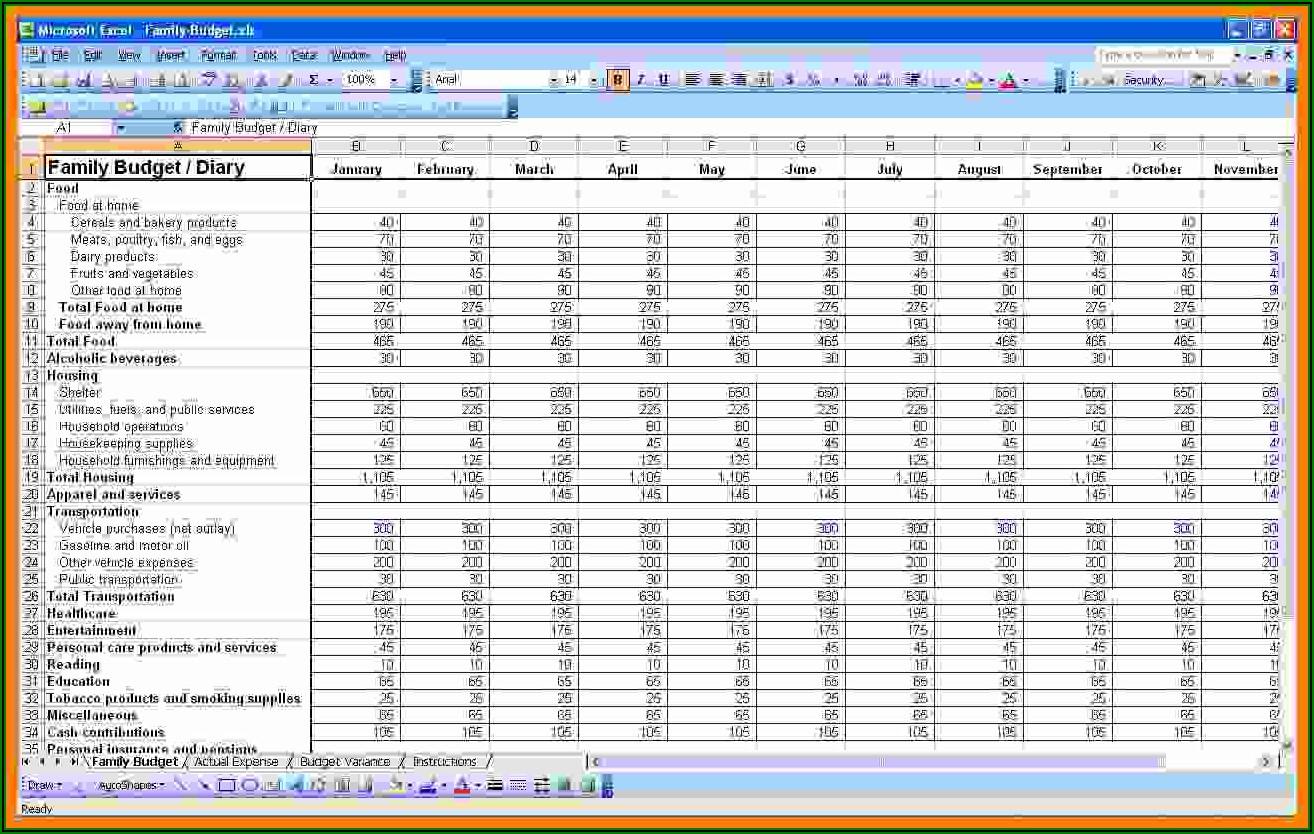 Budget Template Microsoft Office