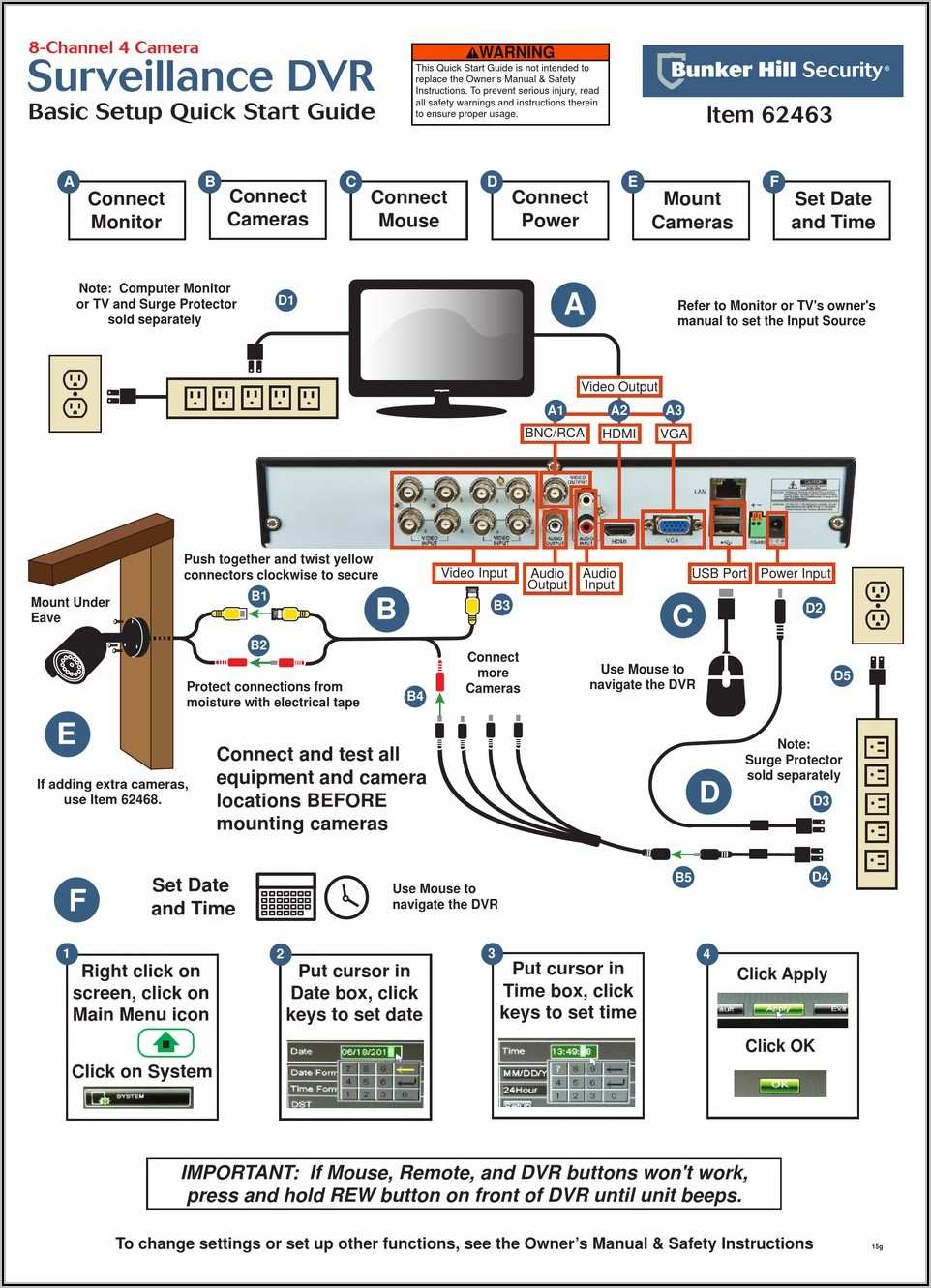 Bunker Hill Security Camera 62468 Wiring Diagram