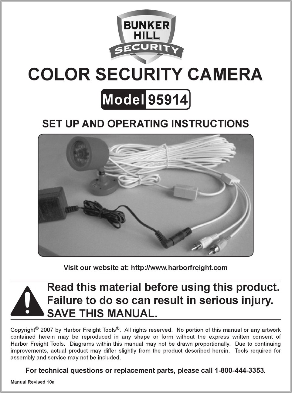 Bunker Hill Security Camera 95914 Wiring Diagram