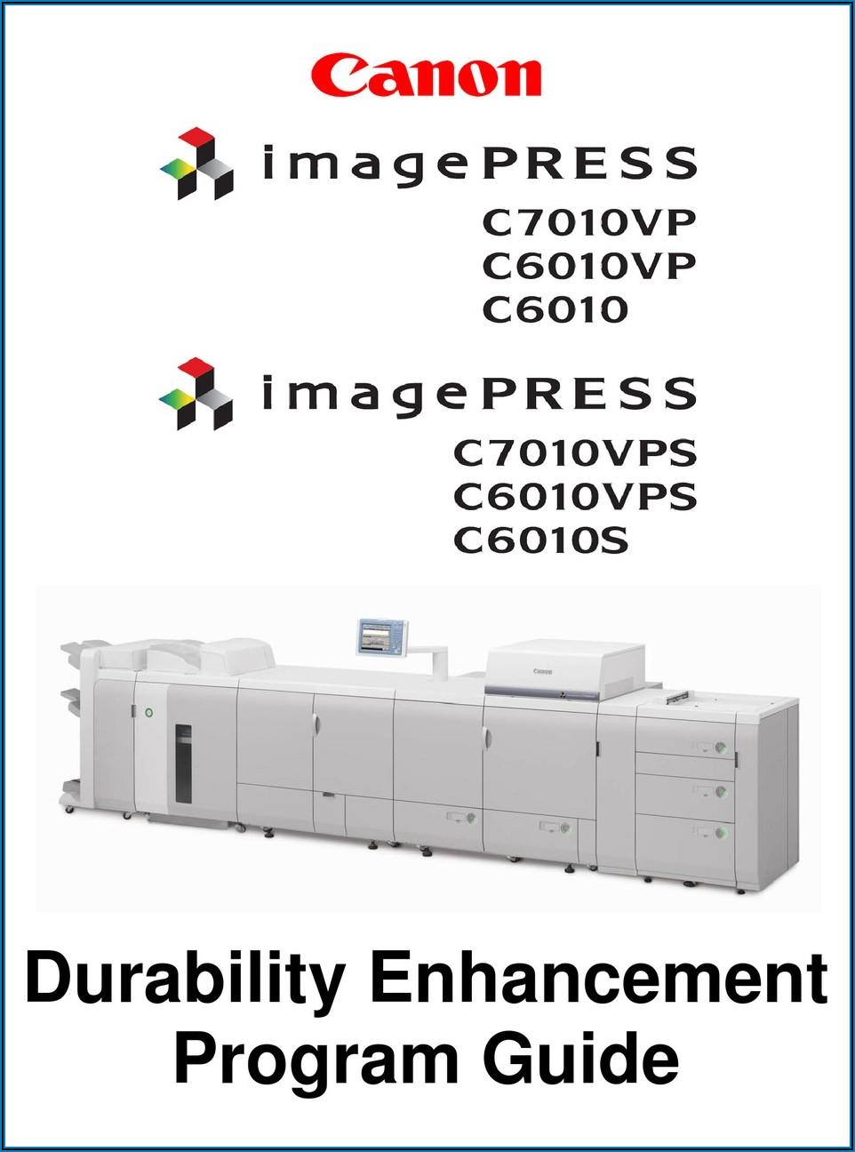 Canon Imagepress C7010vp Manual