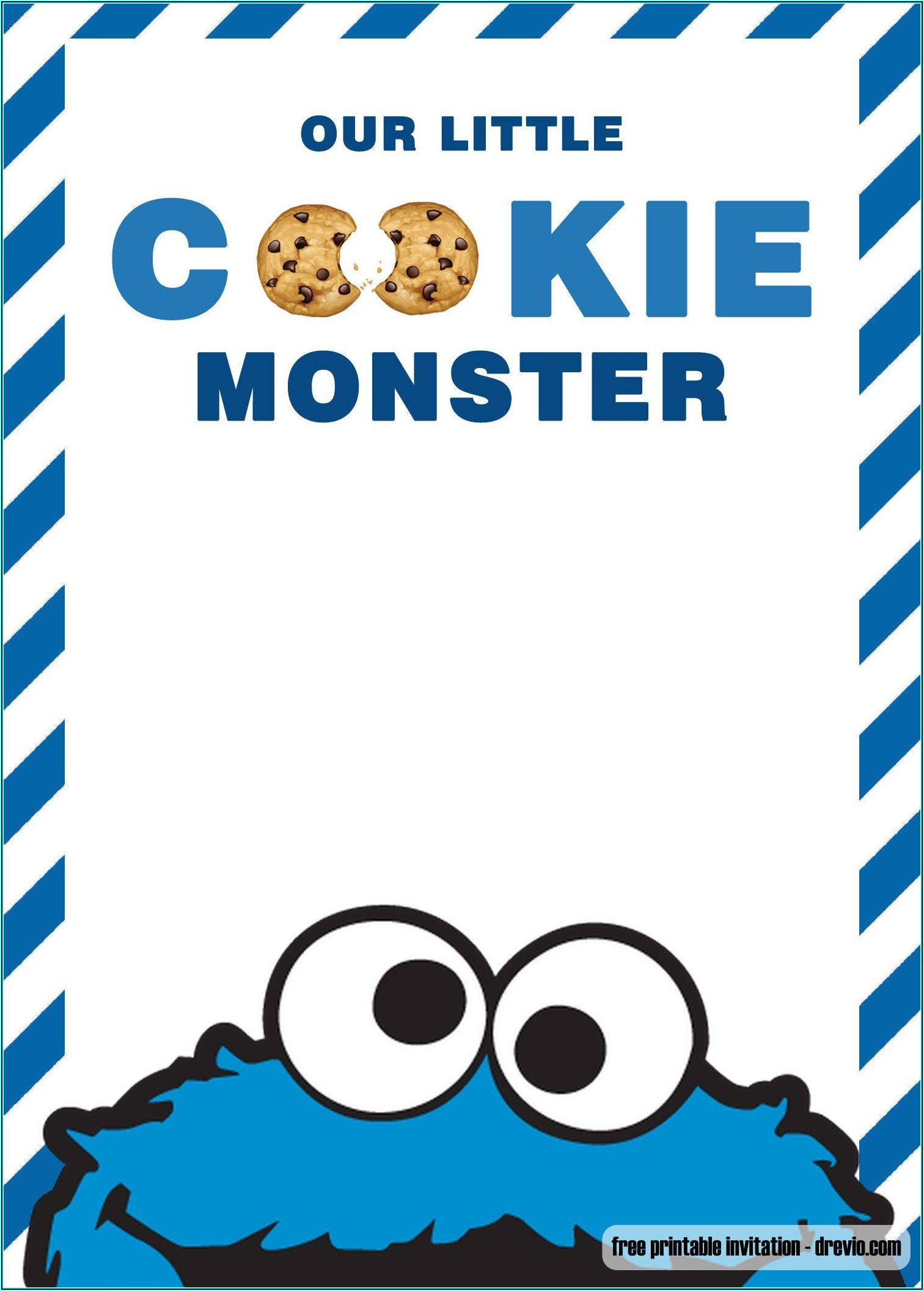 Cookie Monster Invitations Template