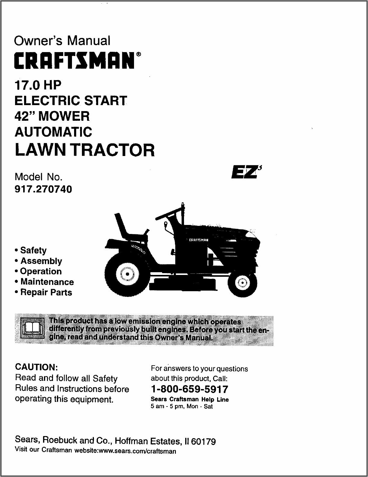 Craftsman 42 Inch Riding Lawn Mower Drive Belt Diagram