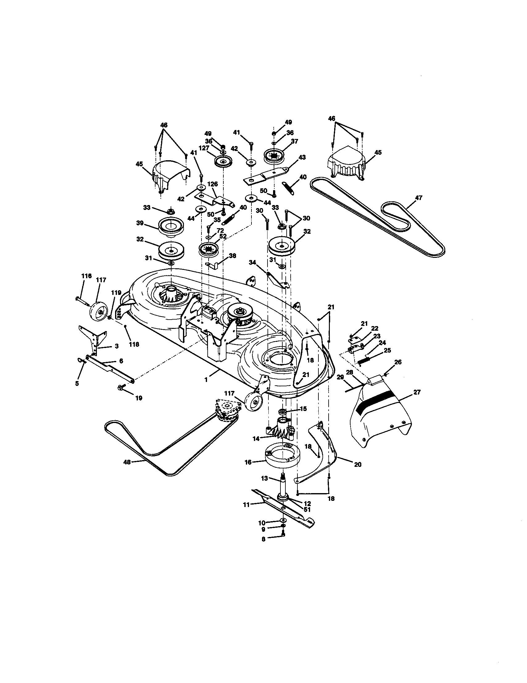 Craftsman Riding Lawn Mower Parts Diagram