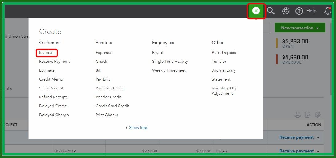Create Invoice From Estimate Quickbooks Online