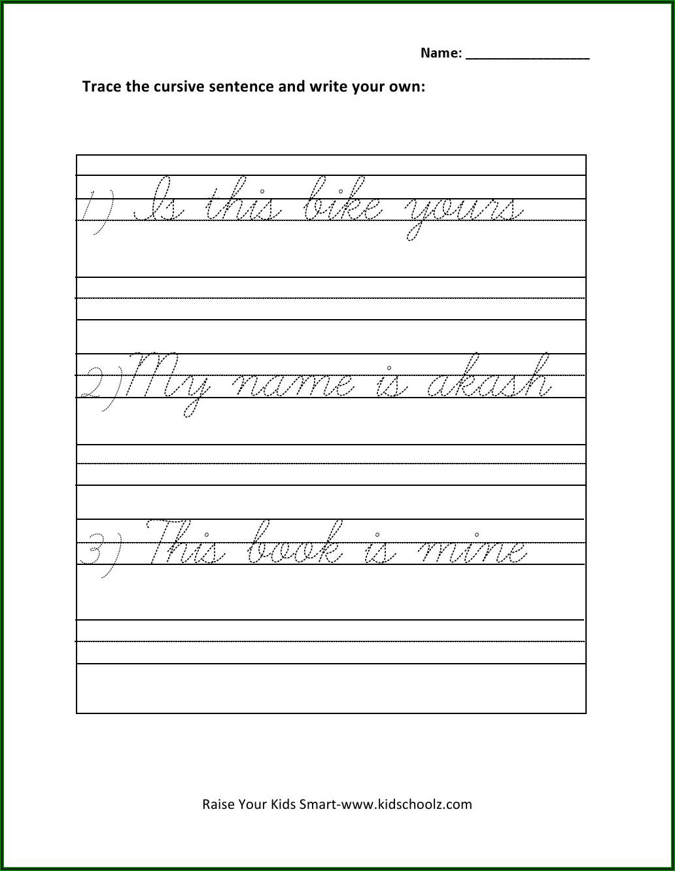 Cursive Writing Worksheets For Ukg Pdf
