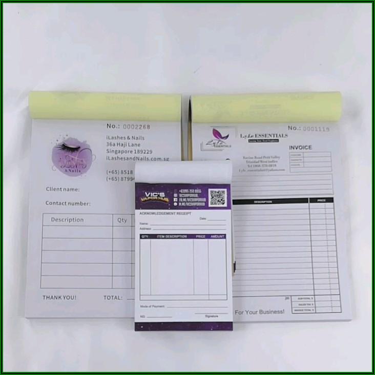 Custom Carbon Invoice Book