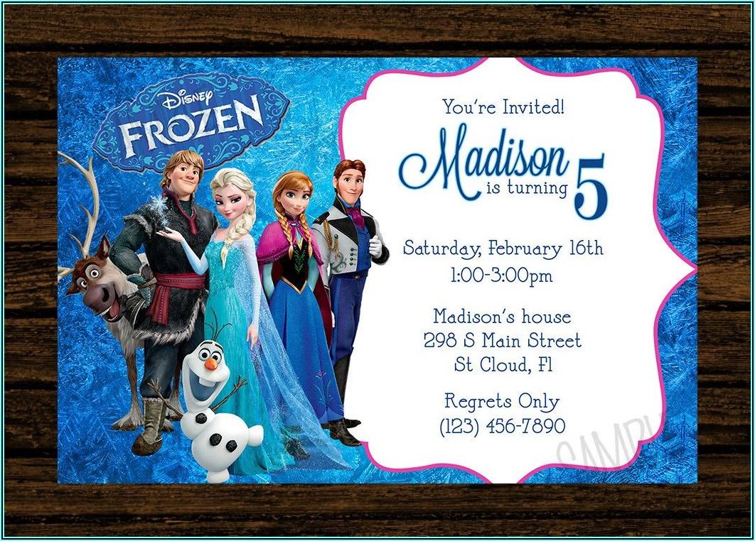 Custom Frozen Birthday Invitations