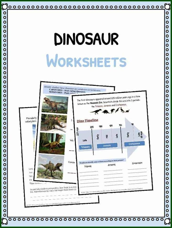 Dinosaur Timeline Worksheet Ks1