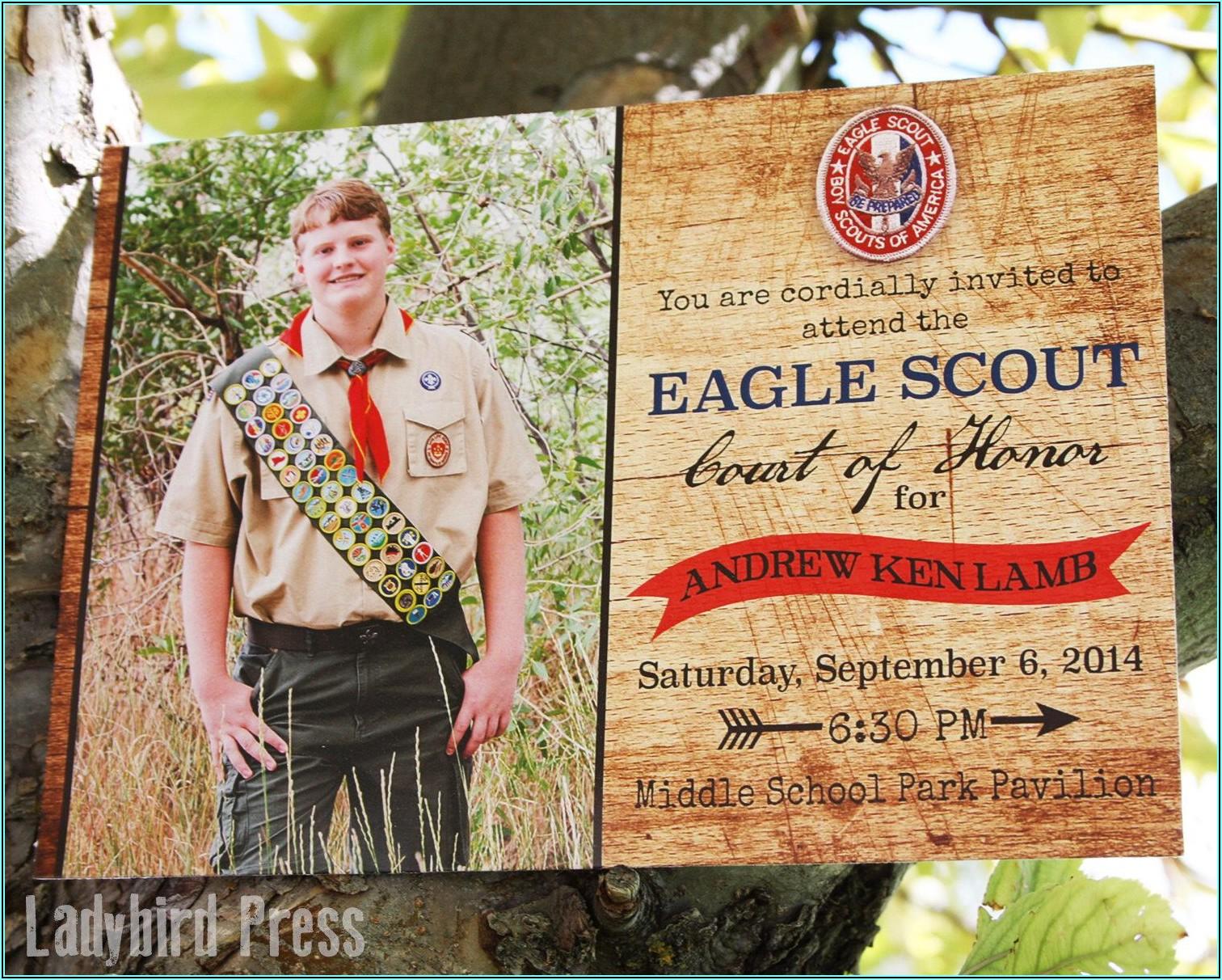 Eagle Scout Invitations Free Printable