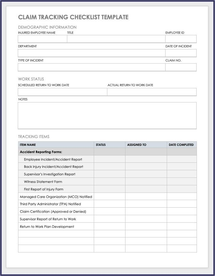 Employee Accident Report Example