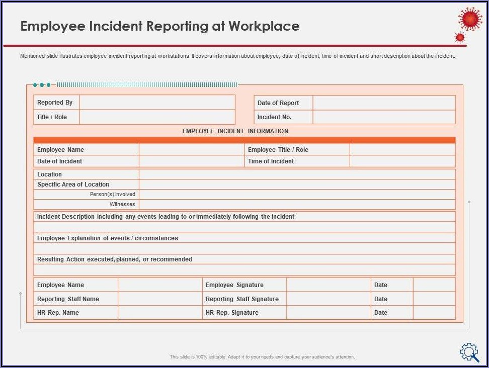 Employee Accident Report Sample Letter