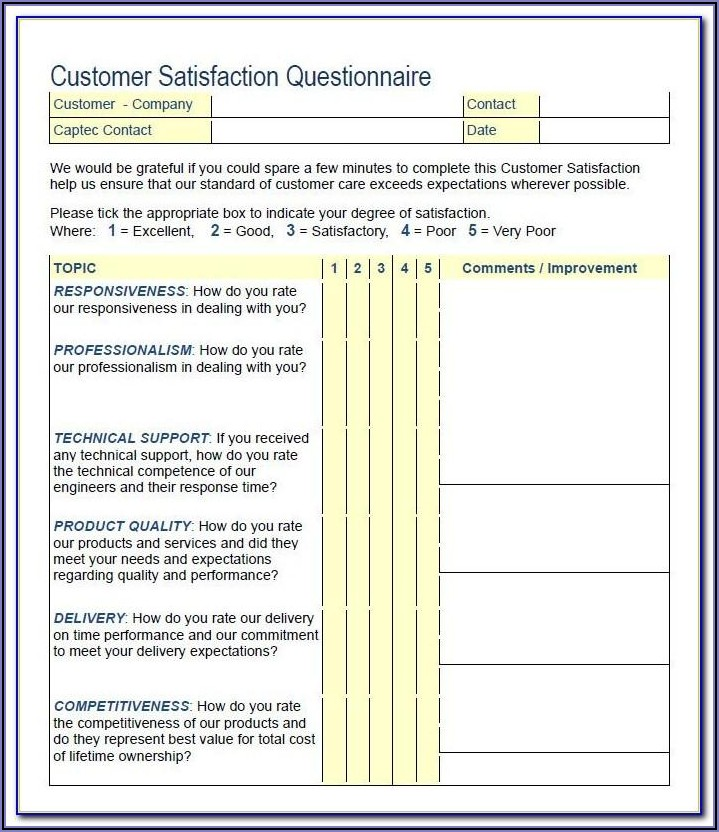 Employee Satisfaction Survey Questions Examples Free