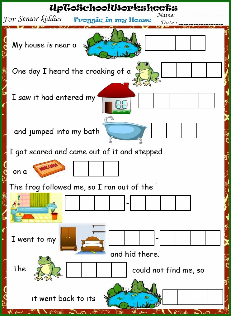 English Worksheet On This And That For Kindergarten