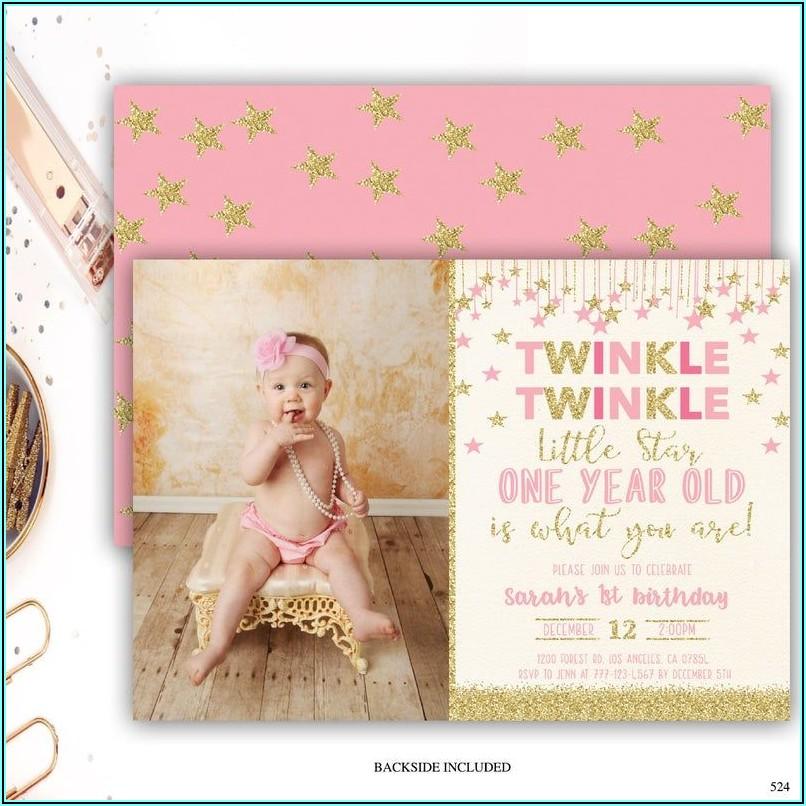 Etsy 1st Birthday Invitations Girl
