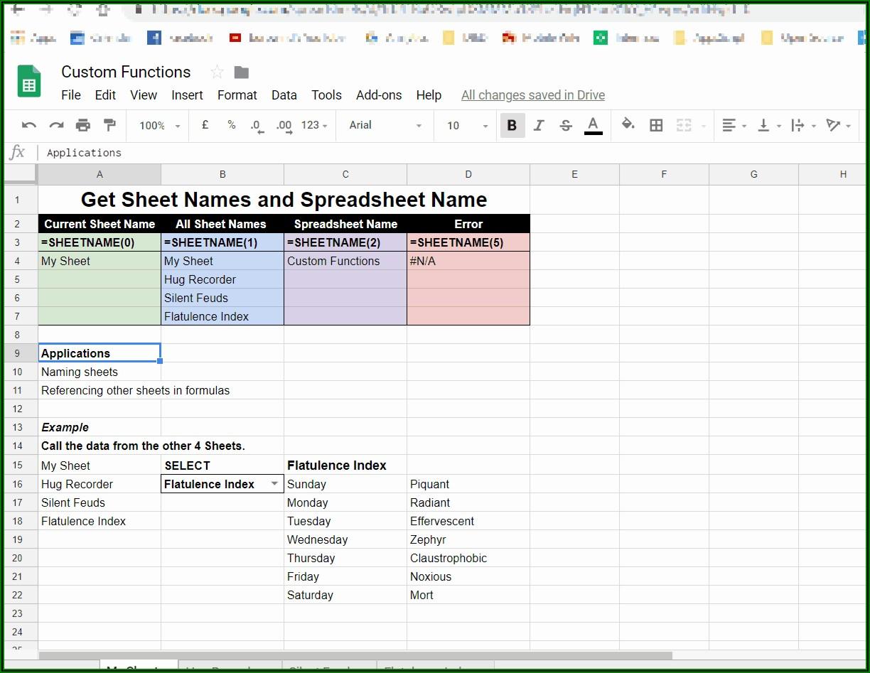 Excel Reference Current Sheet Name In Formula