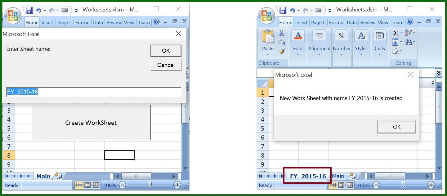 Excel Vba Create New Sheet With Name From Cell