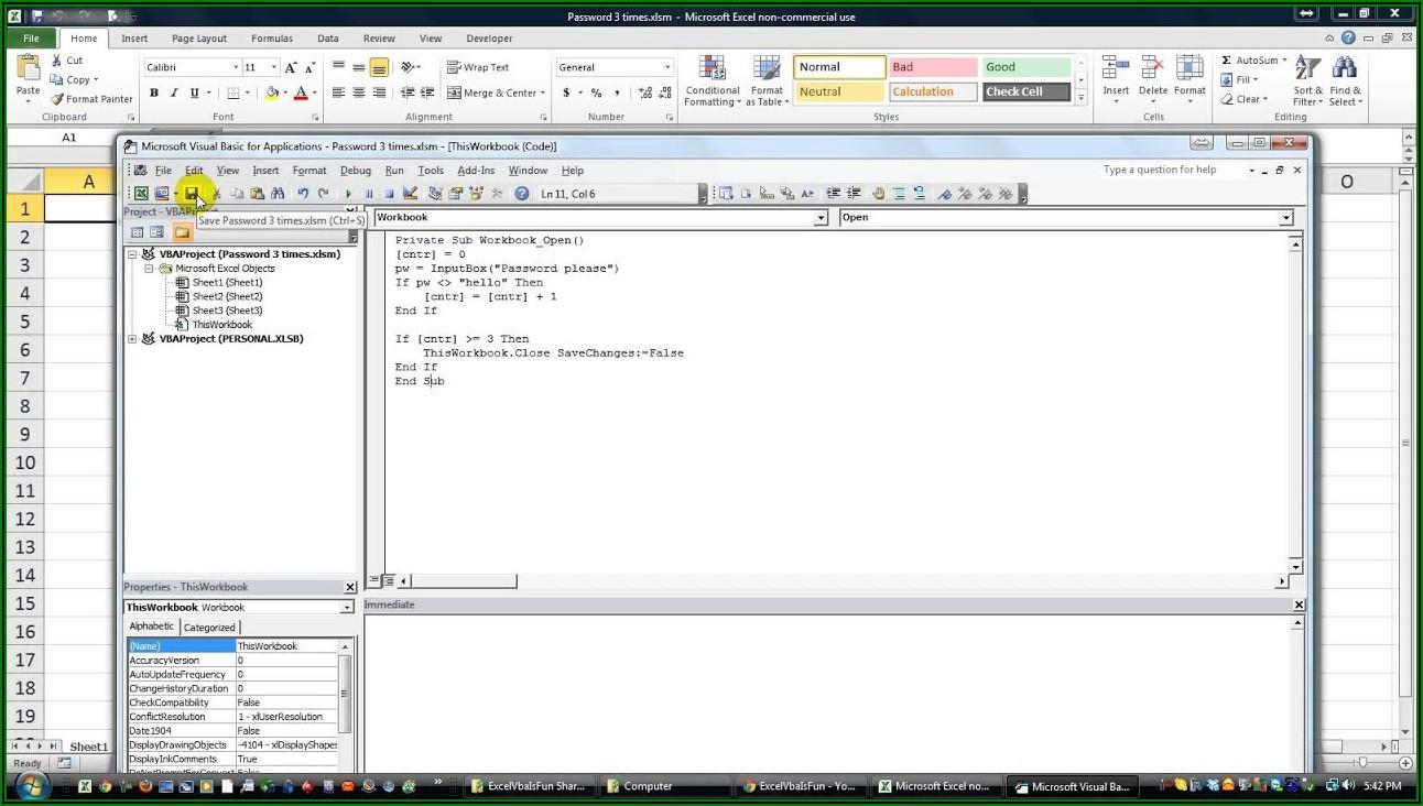Excel Vba Workbooks.close