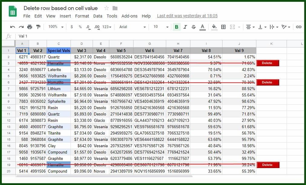 Excel Vba Worksheet Rows Delete