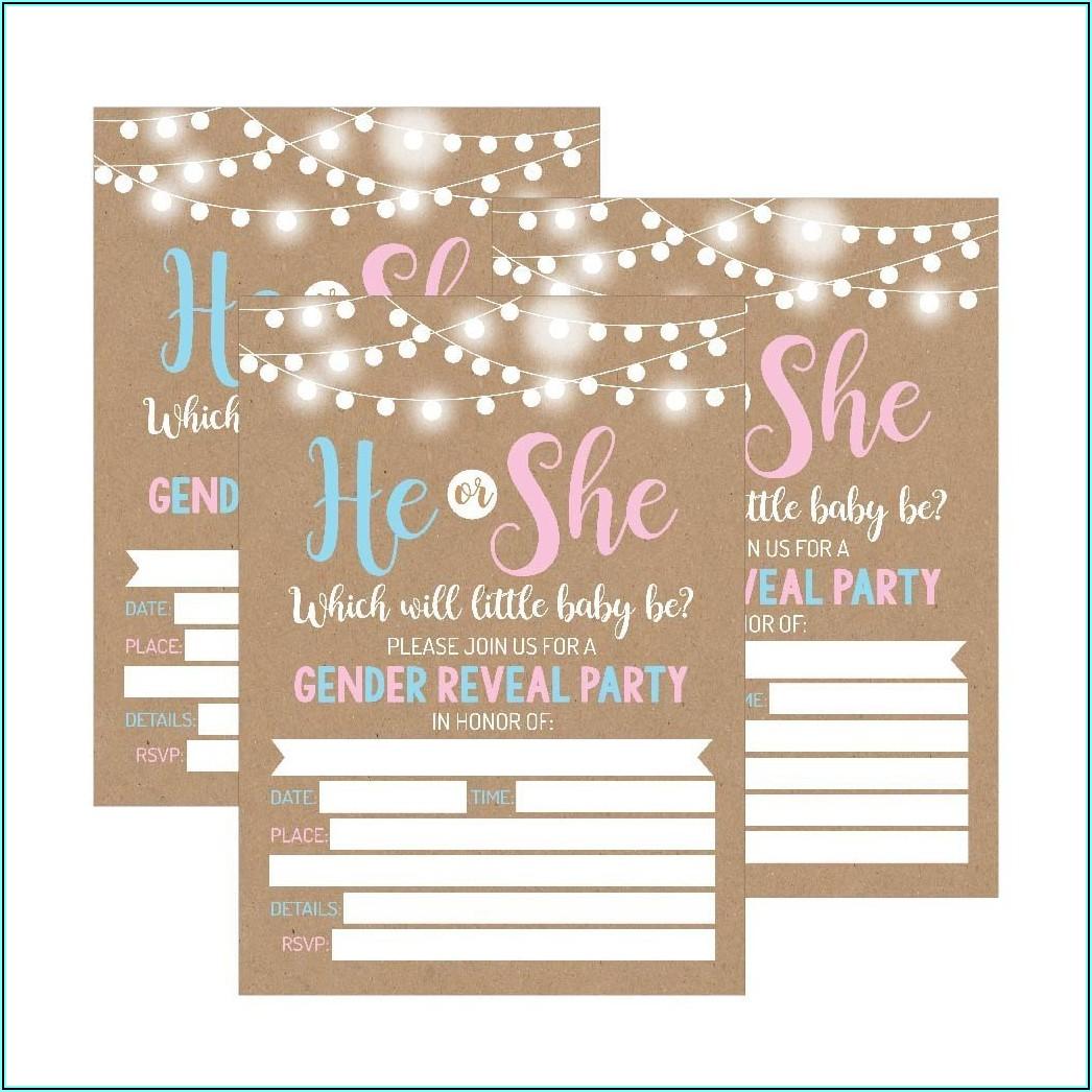 Fall Gender Reveal Invitations Free
