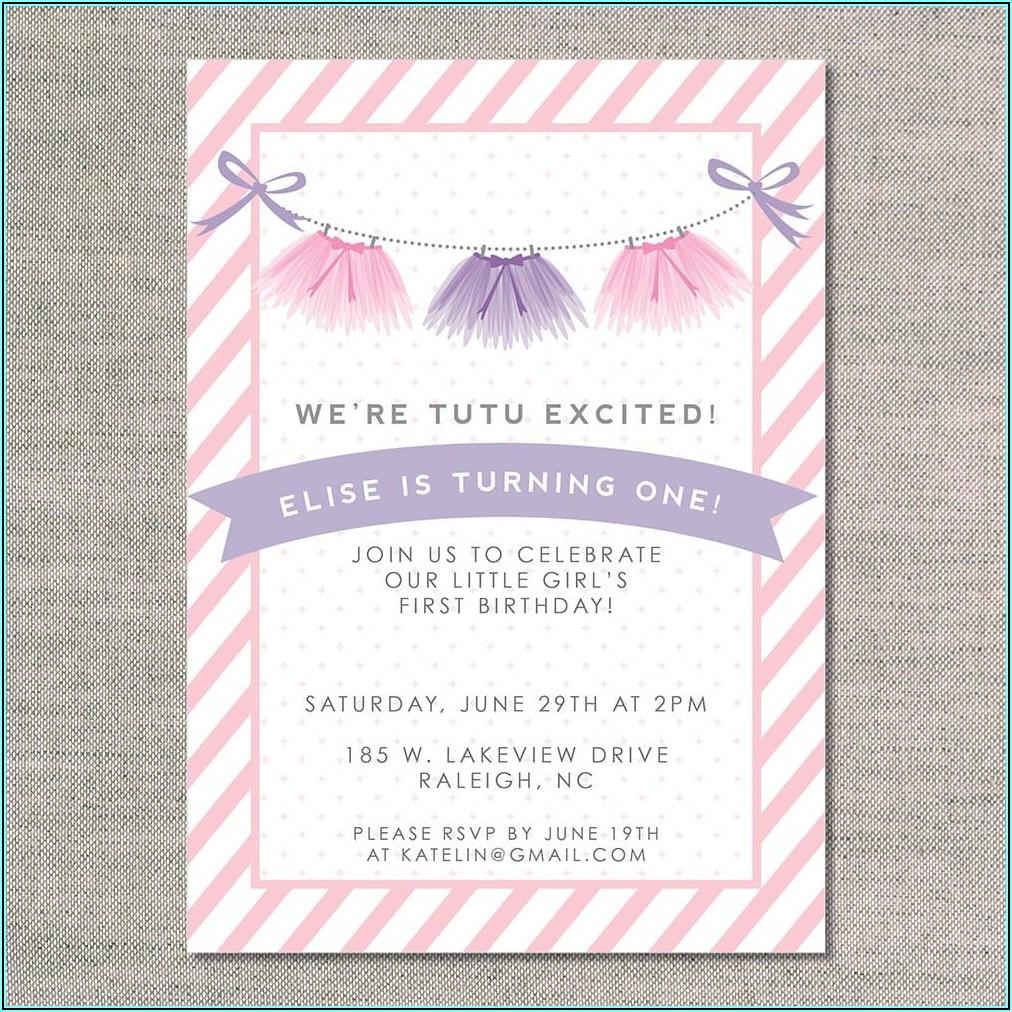 First Birthday Invitations Girl Wording